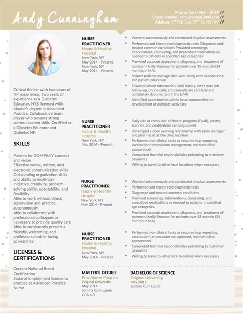 Practitioner Skills For Resume by 25 Best Ideas About Nursing Resume Template On Rn Resume Nursing Resume And