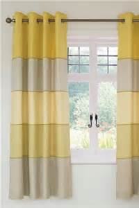 ochre chambray panel eyelet curtains from the next uk shop maybe for yellow grey stripe