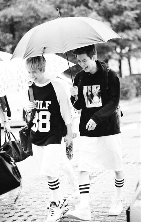 exo umbrella that day under the same umbrella we were laughing