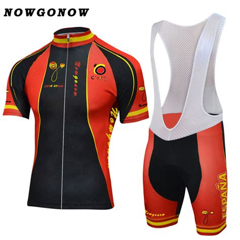2017 spain national team cycling jersey set bike clothing wear black yellow red maillot ciclismo ...