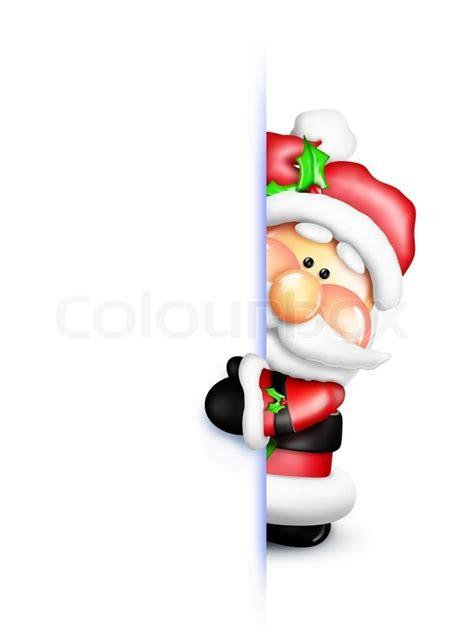 Reideer And Father Christmas Template For Windows by Cartoon Santa Peeking Around Corner Stock Photo Colourbox