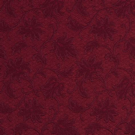 Jacquard Upholstery by E500 Burgundy Floral Jacquard Woven Upholstery Grade
