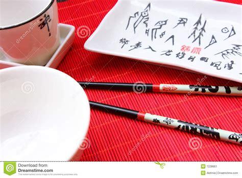 ustensil cuisine traditional japanese restaurant ustensil stock image