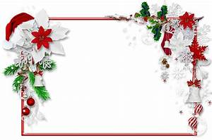 Christmas PNG Photo Frame with Santa Hat and Mistletoe ...