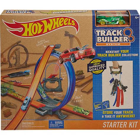 wheels looping bahn wheels track builder starter set mattel mytoys