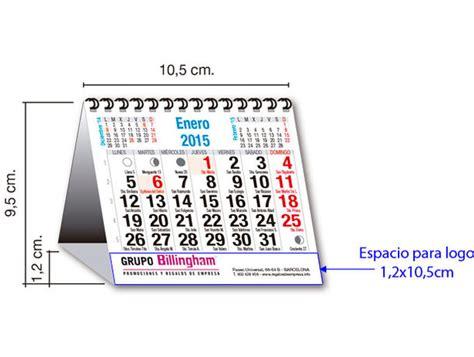 calendario de mesa espiral cm
