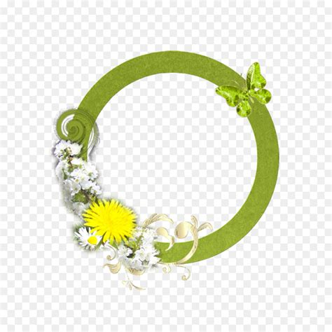 lingkaran bingkai foto bunga gambar png