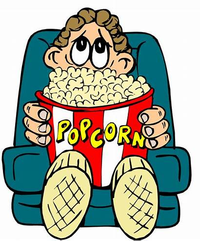 Watching Clipart Movies Popcorn Film Boy