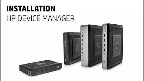 installation hp device manager client leger youtube