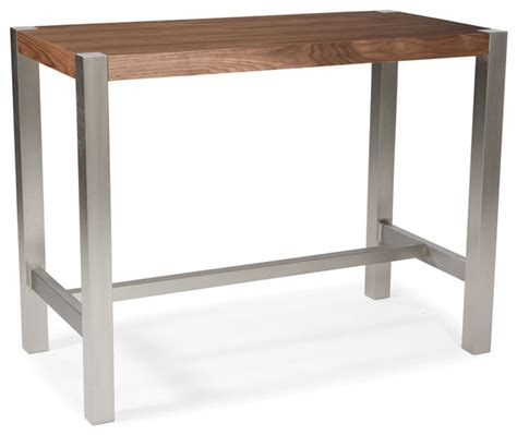 Moe 39 S Home Riva Rectangular Counter Height Table In Walnut