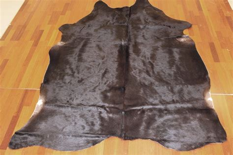 Black Cowhide Rug by Cowhide Black 14 Black Cowhide Rug