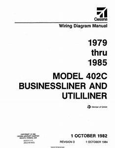 Cessna 402c Businessliner  U0026 Utililiner Wiring Diagram
