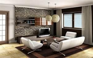 Steinwand Wohnzimmer Tv : 110 luxus wohnzimmer im einklang der mode ~ Bigdaddyawards.com Haus und Dekorationen