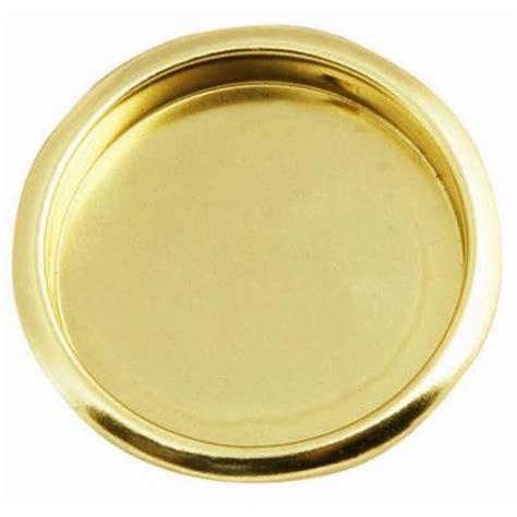 polished brass closet door finger pull
