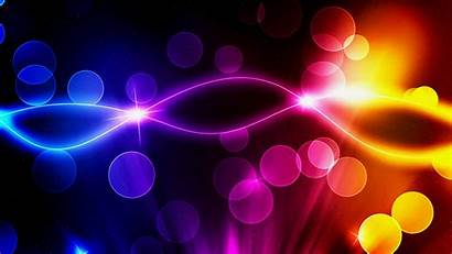 Neon Abstract Glowing Colorful Stars Colors Desktop