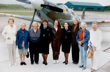 first woman to form australian women s pilot association britain s female spitfire pilots to receive badge of