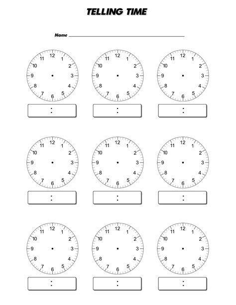 blank clock template blank clock worksheet to print activity shelter