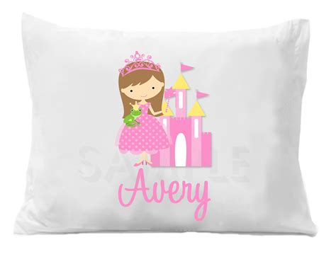 customized pillow cases custom personalized pillowcase princess themed room