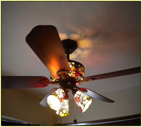 Hampton Bay Lamp Shades by Tiffany Ceiling Fans With Lights Home Design Ideas