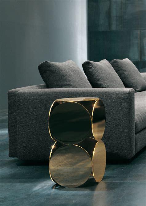 side table designed  rodolfo dordoni minotti orange skin