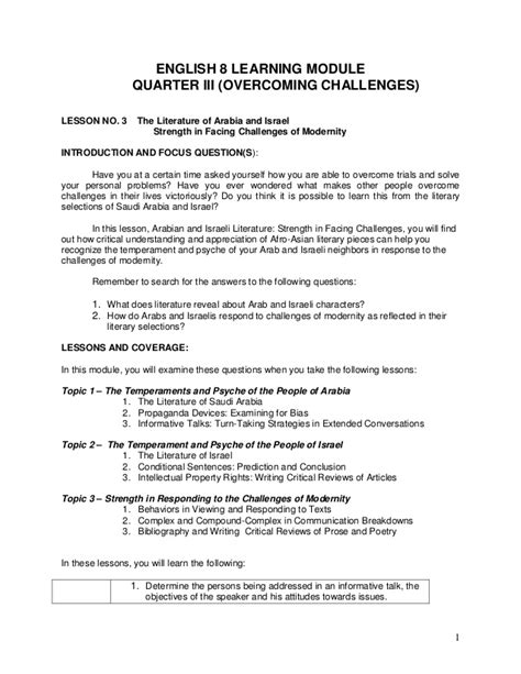 english 2 released form answer key english grade 8 q3 l3