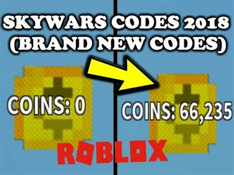 skywars roblox    codes updated youtube