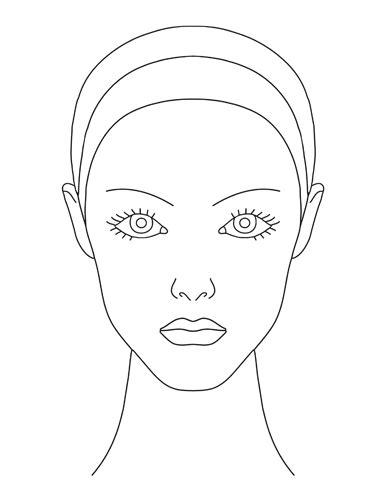 blank face template  makeup invitation templates