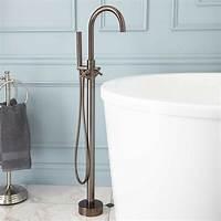 freestanding tub faucets Signature Hardware Nerin Gooseneck Freestanding Tub Faucet ...