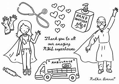 Colouring Sheets Thank Nhs Key Workers Covid