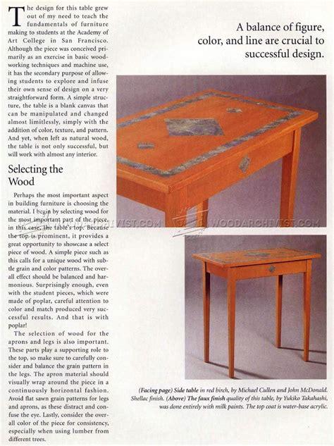 simple side table plans woodarchivist