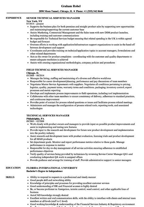 Technical Manager Resume Sles by Technical Services Manager Resume Sles Velvet