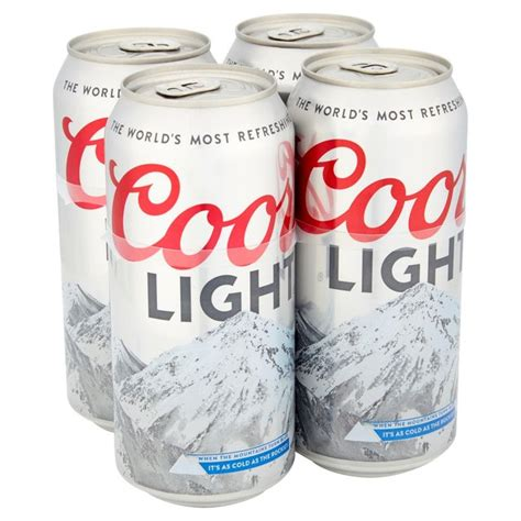 coors light carbs per can morrisons coors light cans 4 x 440ml product information