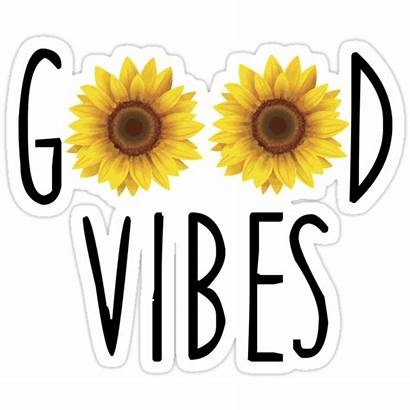 Sticker Vibes Stickers Redbubble Sunflower Aesthetic Sunflowers