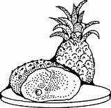 Coloring Pages Pineapple Clipart Ham Printable Clip Svg Illusion Optical Radio Drawing Transparent Johnny Fruit Onlinelabels Library Webstockreview Cliparts Vector sketch template