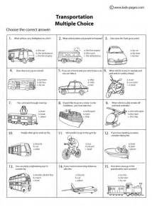 grade math facts transportation choice b w worksheet
