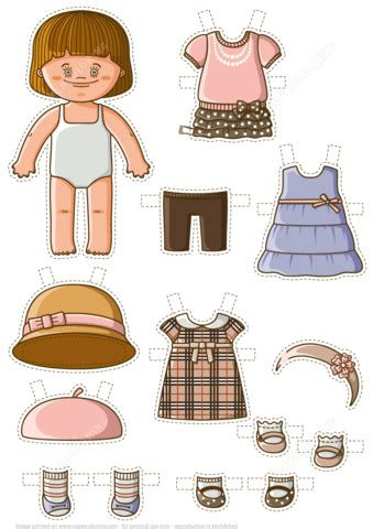 dress  baby paper doll  printable papercraft templates