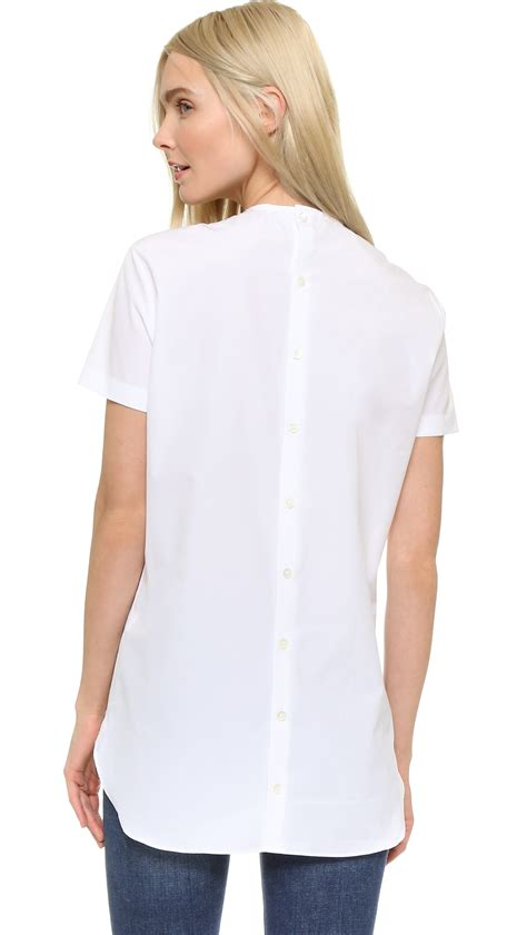 17256 back shirt lyst marot button back shirt in white