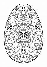 Easter Egg Coloring Eggs Pages Zentangle Vector Decorative Pattern Printable Sheets Mandala Illustration Colouring Intricate Detailed Bunny Adults Christmas Wit sketch template