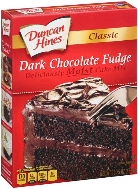 Make these decadent cookies for your next party! Duncan Hines® Classic Dark Chocolate Fudge Cake Mix ...