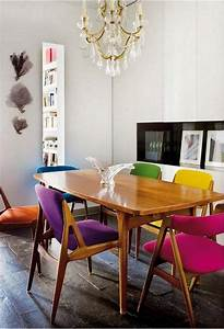 17, Creative, Ways, To, Refresh, Your, Dining, Room, With, Multicolored, Chairs