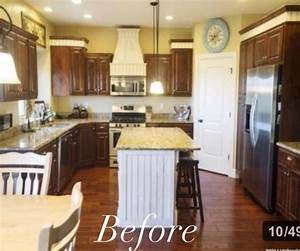 19 kitchen makeover before and afters that will make your With best brand of paint for kitchen cabinets with instagram logo stickers