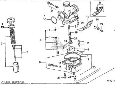honda xr100r 1998 w european direct sales parts list