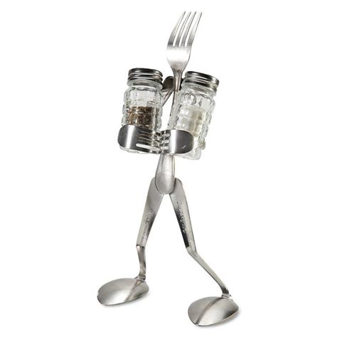 fork salt and pepper shaker caddy the green