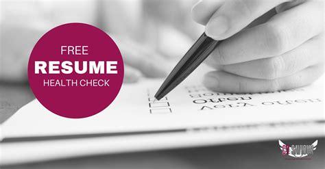 free cv health check resume review