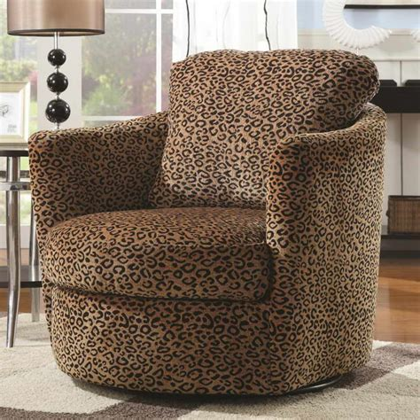 living room living room accent chairs with leopard motif
