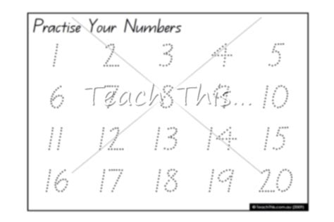 number names worksheets 187 number writing practice 1 20
