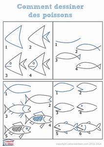 Comment Dessiner La Mer : comment dessiner des tas de poissons poissons dessiner et marins ~ Dallasstarsshop.com Idées de Décoration