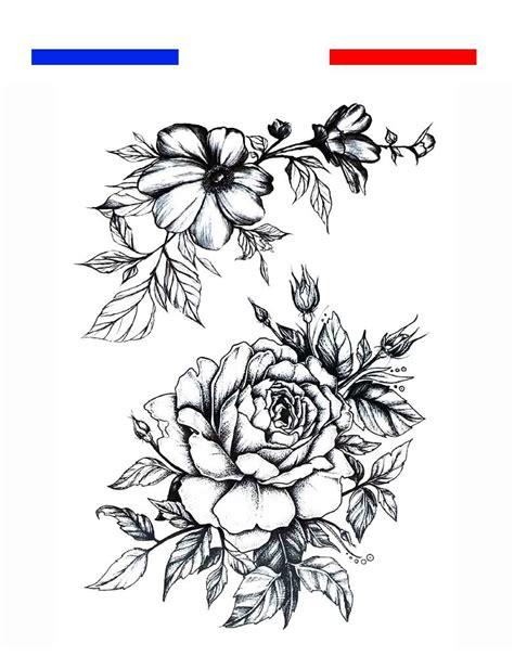 rose  fleurs tatouage temporaire mon petit tatouage