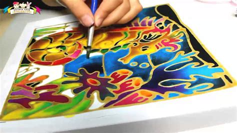 art batik drawing simple youtube