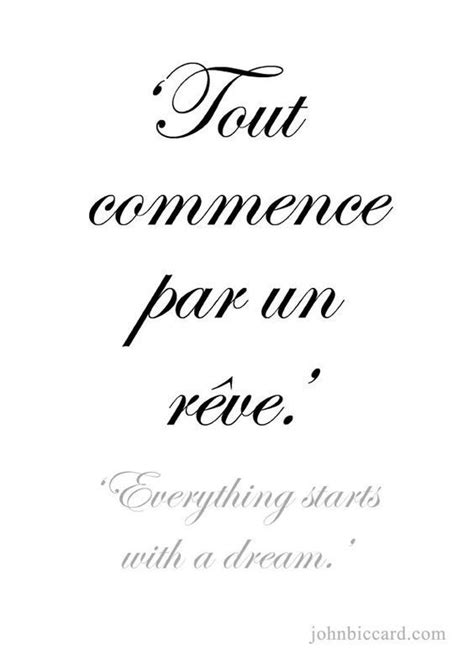 Todo comienza con un sueño | French quotes, French words quotes, French tattoo quotes